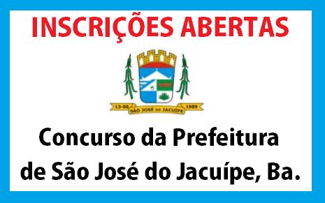 concurso da Prefeitura de São José do Jacuípe