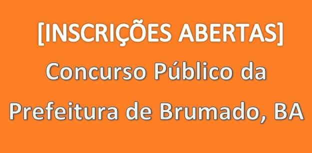 concurso público da prefeitura de Brumado, Ba