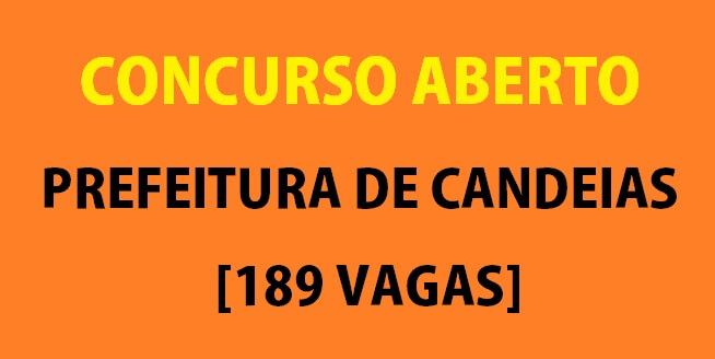 Concurso da prefeitura de Candeias Bahia