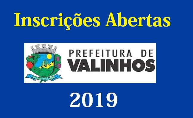 Concurso prefeitura de Valinhos SP