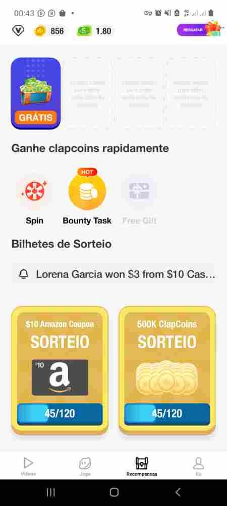Ganhar dinheiro com aplicativo clipclaps